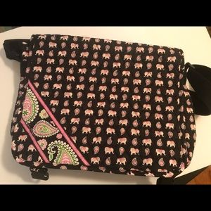 Pink Elephants Vera Bradley Messenger Bag